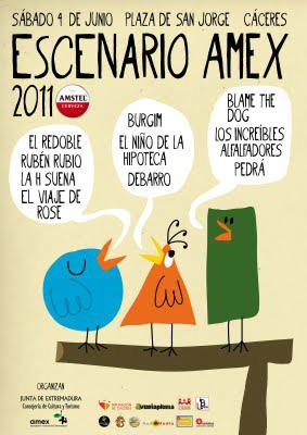 cartel del Escemario Amex 2011